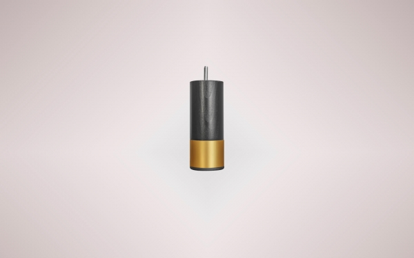 Pieds Cylindre noir et doré